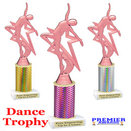 Dance trophy.  Great for your dance recitals, contests, gymnastic meets, schools and more. 5009-p