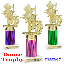 Dance trophy.  Great for your dance recitals, contests, gymnastic meets, schools and more. 8195