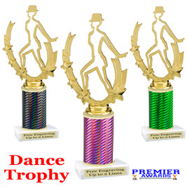 Dance trophy.  Great for your dance recitals, contests, gymnastic meets, schools and more. 90885