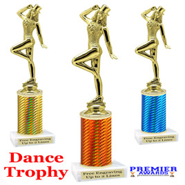 Dance trophy.  Great for your dance recitals, contests, gymnastic meets, schools and more. f711