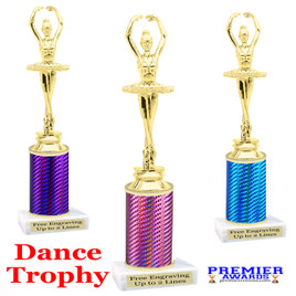 Dance trophy.  Great for your dance recitals, contests, gymnastic meets, schools and more. f3391