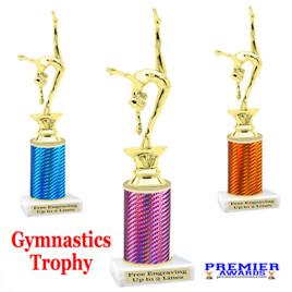 Gymnastics -  Dance trophy.  Great for your dance recitals, contests, gymnastic meets, schools and more. f2401