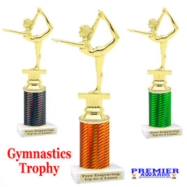 Gymnastics -  Dance trophy.  Great for your dance recitals, contests, gymnastic meets, schools and more. f2301