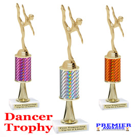 Dance Trophy.  Great trophy for your pageants, events, contests and more!   1 Column w/stem.. 654-g