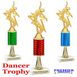 Dance Trophy.  Great trophy for your pageants, events, contests and more!   1 Column w/stem.. 5009-g