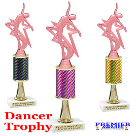 Dance Trophy.  Great trophy for your pageants, events, contests and more!   1 Column w/stem.. 5009-p