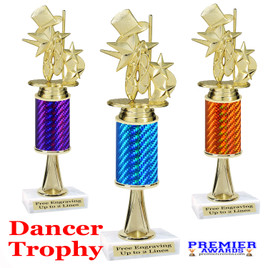 Dance Trophy.  Great trophy for your pageants, events, contests and more!   1 Column w/stem.. 8195