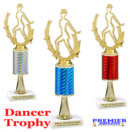 Dance Trophy.  Great trophy for your pageants, events, contests and more!   1 Column w/stem.. 90885