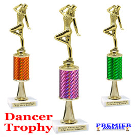 Dance Trophy.  Great trophy for your pageants, events, contests and more!   1 Column w/stem.. f711