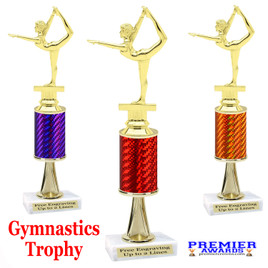 Gymnastics -  Dance Trophy.  Great trophy for your pageants, events, contests and more!   1 Column w/stem.. 2301