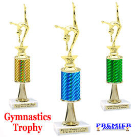 Gymnastics -  Dance Trophy.  Great trophy for your pageants, events, contests and more!   1 Column w/stem.. 2401