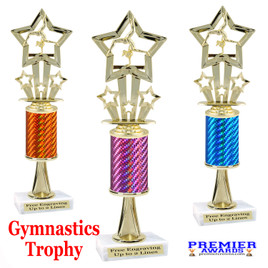 Gymnastics -  Dance Trophy.  Great trophy for your pageants, events, contests and more!   1 Column w/stem.. f761