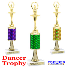 Dance Trophy.  Great trophy for your pageants, events, contests and more!   1 Column w/stem.. f3391