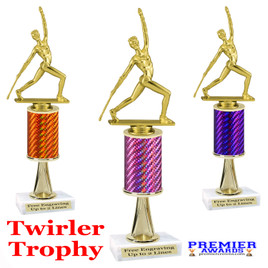 Majorette Trophy.  Great trophy for your pageants, events, contests and more!   1 Column w/stem..