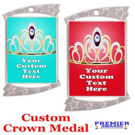 Custom Crown medal.  Great for your pageants, events, contests and for the Queen or Princess in your life.  927s