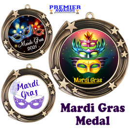 Mardi Gras theme medal.  Great medal for your pageants, contests, competitions and more.  930g