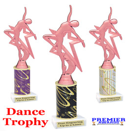 Dance Trophy.  Great trophy for your pageants, events, contests, recitals, and more.  5009P