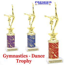 Gymnastics - Dance Trophy.  Great trophy for your pageants, events, contests, recitals, and more.  f2401
