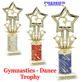 Gymnastics - Dance Trophy.  Great trophy for your pageants, events, contests, recitals, and more.  f761