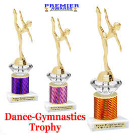 Dance Trophy.  Great trophy for your pageants, events, contests and more!   1 Column w/diamond.. 654-g
