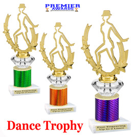 Dance Trophy.  Great trophy for your pageants, events, contests and more!   1 Column w/diamond.. 90885