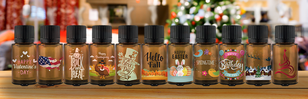 AmberMist With Holiday Cling On Labels