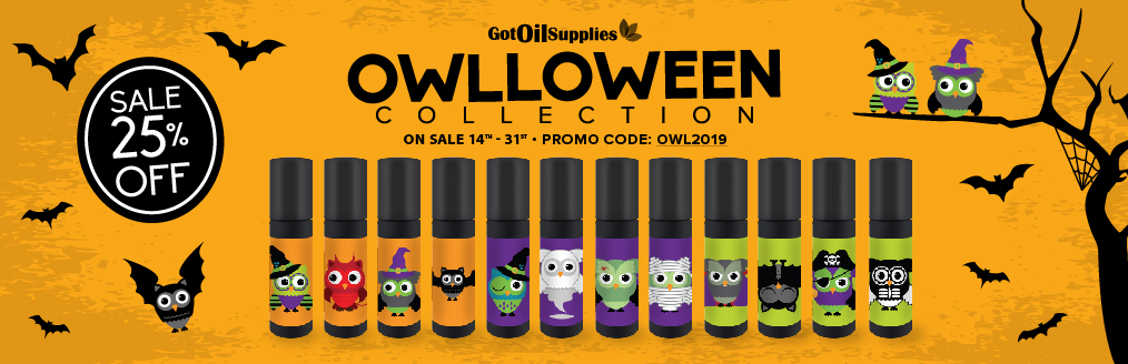 Owlloween Roller Bottle Collection