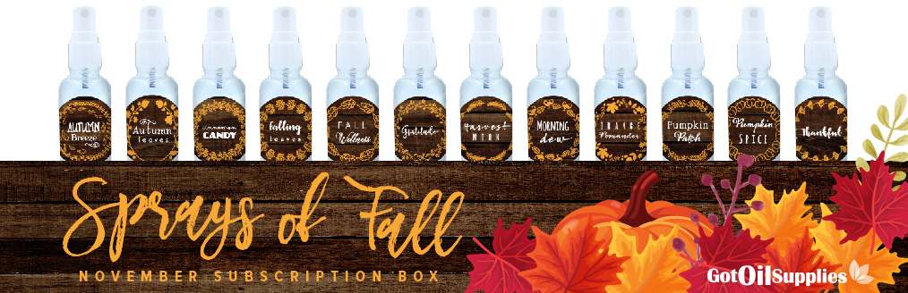 Sprays of Fall Essential Oil Collection
