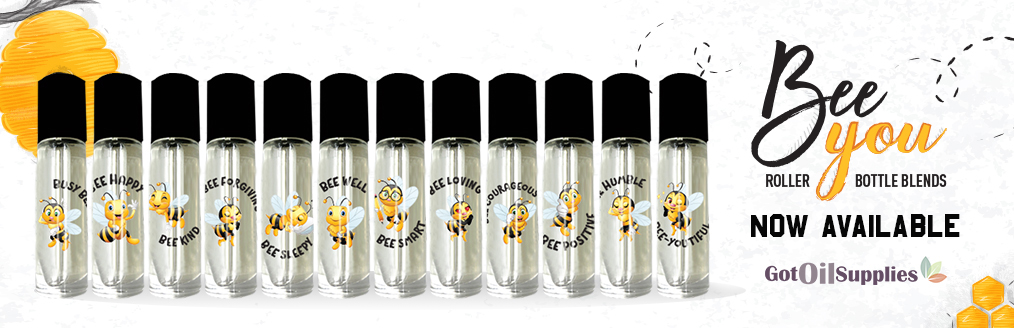 Bee You Essential Oil Roller Bottle Collection