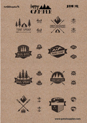Happy Camper Essential Oil Proof Label Sheets For Camping And Survival
