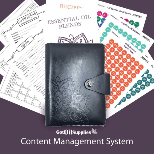 YL Black Content Management System for Essential Oils