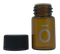 dōTERRA ō 2ml Boston Round Glass Amber Essential Oil Bottles with Orifice Reducers and Black Lids