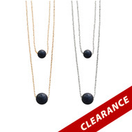 Double Essential Oil Lava Stone & Chain Necklace