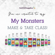 FREE My Monsters Social Media eInvite For A Make And Take Class