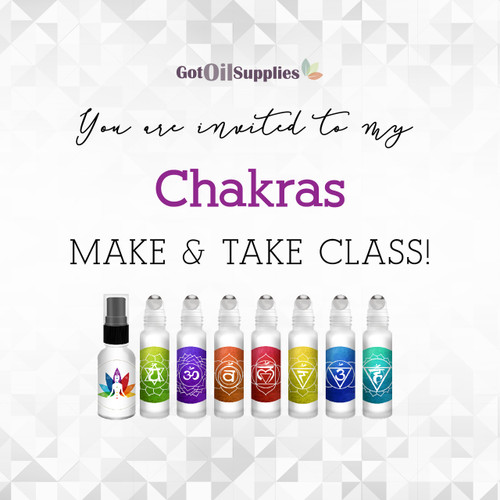 FREE Chakras Social Media eInvite For A Make And Take Class