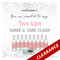 FREE Two Lips Social Media eInvite For A Make And Take Class