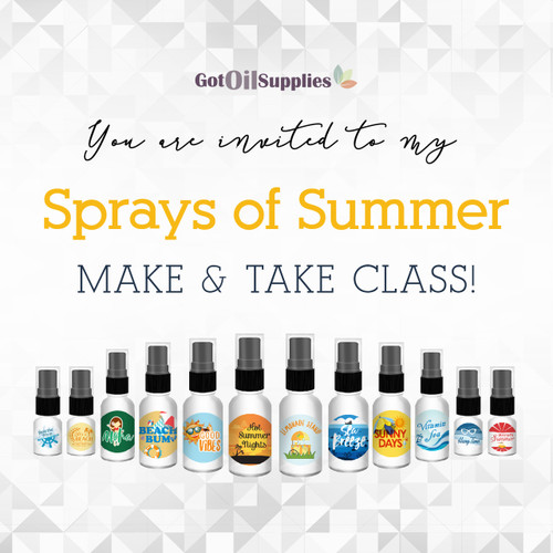 FREE Sprays of Summer Social Media eInvite For A Make And Take Class