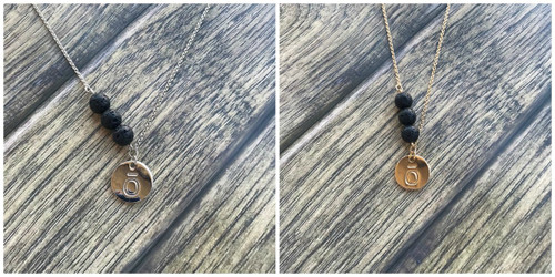 dōTERRA® ō Lava Essential Oil Diffuser Necklace With 3 Lava Beads