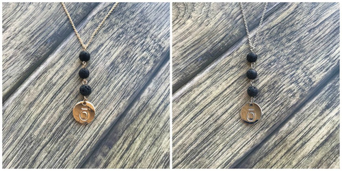 dōTERRA® ō Lava Essential Oil Diffuser Necklace With 3 Dangling Lava Beads