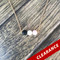 3 Lava Stones Essential Oil Diffuser Necklace With White And Pink Beads Gold