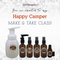 Happy Camper Essential Oil Make and Take Workshop Kit for Camping einvite invitation
