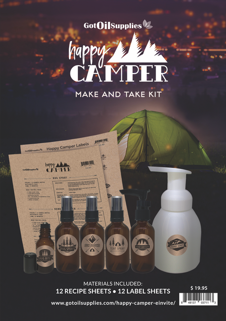 Happy Camper Essential Oil Make And Take Workshop Kit For Camping