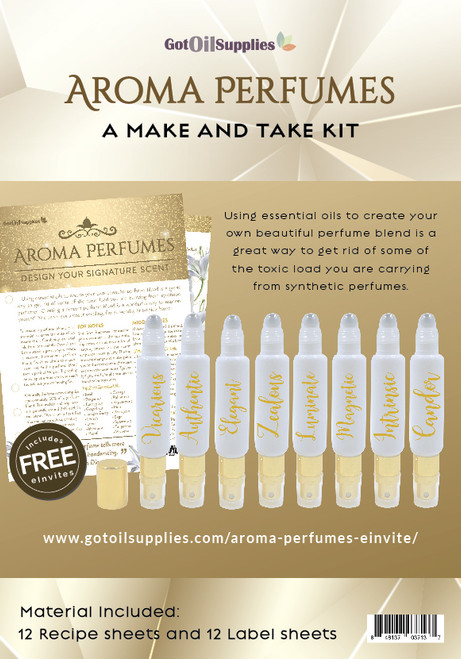 Aroma Perfumes Essential Oil Make And Take Workshop Kit For EO Fragrances