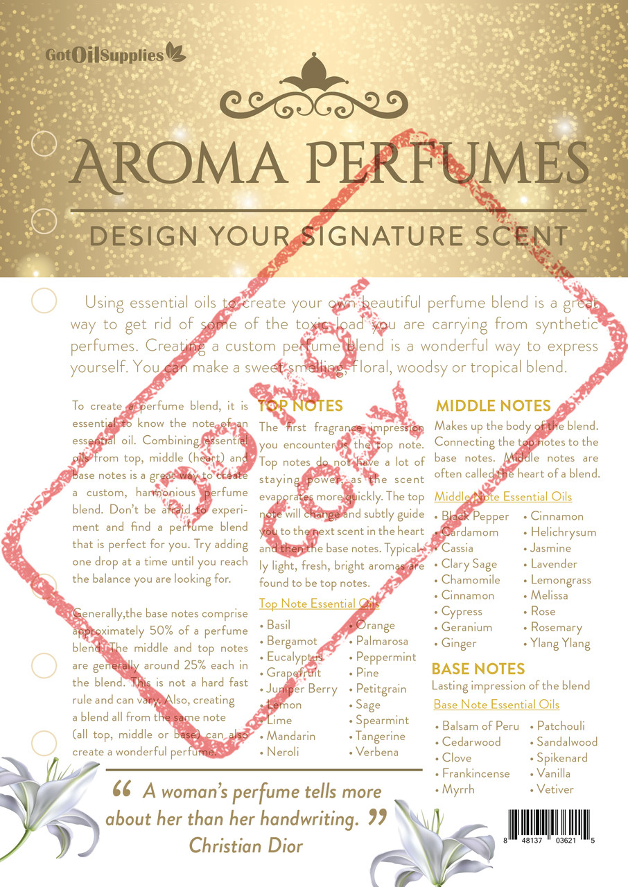 Aroma Perfumes Do It Yourself Essential Oil Kit For EO