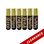Gold Hot Stamped Amber 10ml Essential Oil Roller Bottles