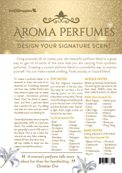 Aroma Perfumes Essential Oil Recipe Sheets For EO Fragrances Front