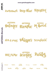 dōTERRA® Top 12 Essential Oil Proprietary Blend Gold Foil Labels