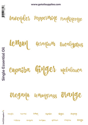 GOS Top 12 Essential Oil Gold Foil Labels and Lid Stickers