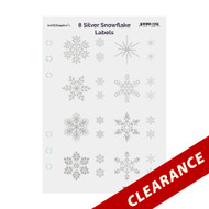 8 Silver Foil Snowflake On Clear Essential Oil Labels With Lid Stickers