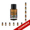 AmberMist Essential Oil Bottle Ultrasonic Diffuser With Holiday Cling On Labels